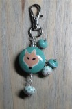 green fox keychain 2