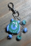 Green owl keychain 1
