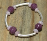 purple tube bracelet